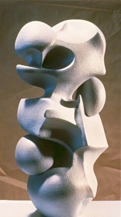 """Abstract Sculpture by Lena Arice Lucas   HELD TOGETHER  view 1 - coil built / constructed clay, acrylic, 26"""" tall x 13"""" wide (at widest)"""