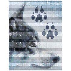 Wolf Bead Pattern Loom Or Peyote