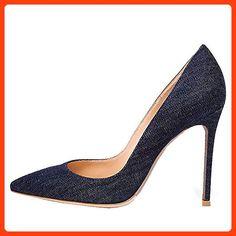 uBeauty,Damen Stilettos Denim Slip On Übergröße Pumps,120mm Mit der Heel  klassische Pumps  Amazon.de  Schuhe   Handtaschen f0382e82e3