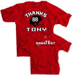 Thanks Tony Gonzalez Shirt Atlanta Falcons Greatest by SportsCrack, $16.00