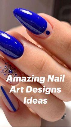 July 4th Nails Designs, Nail Art Designs, Nail Designs For Spring, Fingernail Designs, Diy Acrylic Nails, Diy Nails, Spring Nails, Summer Nails, Patriotic Nails