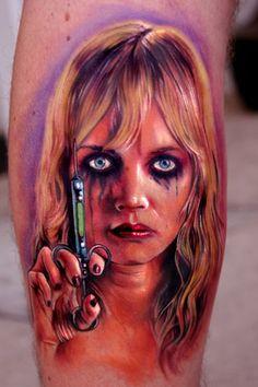 creepy Planet Terror tattoo by Paul Acker of Philadelphia, PA