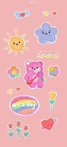 Cute Pastel Wallpaper, Soft Wallpaper, Bear Wallpaper, Cute Patterns Wallpaper, Kawaii Wallpaper, Wallpaper Iphone Cute, Aesthetic Iphone Wallpaper, Galaxy Wallpaper, Aesthetic Wallpapers