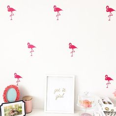 Hey, I found this really awesome Etsy listing at https://www.etsy.com/listing/191285196/flamingo-wall-decals