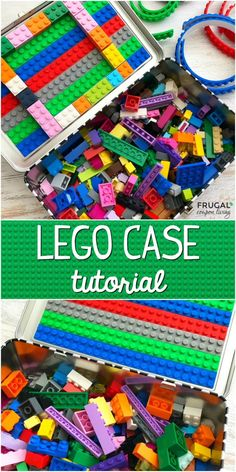 Make your own LEGO Travel Case. This DIY LEGO craft has building block compatible tape and a tin pencil case. It's a great idea for traveling with kids!  #FrugalCouponLiving #LEGO #travel #LEGOCase #legocrafts #travelingwithkids #kidtravel #travelideas #kidstravelideas #kidscrafts