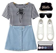 """""""Hello"""" by gabygirafe ❤ liked on Polyvore featuring Edie Parker and Chicnova Fashion"""