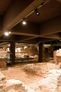 The Monumental Site of Plaça del Rei - Barcelona: an area stretching over m² located beneath the actual square, where is revealing the Roman Barcelona's urban structure. Barcelona Tourism, Old City, Romans, Stretching, Urban, Museums, History, Old Town, Stretching Exercises