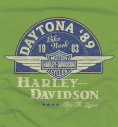 Range of t-shirt designs for a legendary motorcycle company. Harley Davidson Merchandise, Harley Davidson Dealers, Harley Davidson Motor, Motorcycle Companies, Motorcycle Posters, Vintage Prints, Vintage Designs, Harley Shirts, Harley Davison