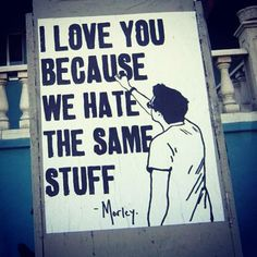We hate war. We love peace.