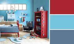 chambre enfant rouge et bleue maisons du monde