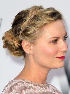 Kirsten Dunst braided headband updo  | allure.com