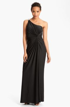 Max & Cleo 'Jenny' One Shoulder Jersey Gown available at Nordstrom