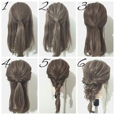 ☆簡単ヘアアレンジ☆ 今回はくるりんぱとロープ三つ編みで作るダウンスタイルです ①、トップを一本に結びます。 ②、①をほぐします。 ③、両サイドの髪をバックに持ってきて、①の上で一本に結びます。 ④、③をくるりんぱし、ほぐします。 ⑤、毛先を三つ編みするのですが、この時ロープ編みの要領で捻りながら編んでいきます。 ⑥、最後に全体のバランスを見ながらほぐして完成です 普通に三つ編みをするのも有りですが、今回みたいに捻りながら編むことでほぐしたときに、違ったデザインになります  わかりにくいとこなどがあれば是非聞いてください DMやLINE@でも大丈夫ですよ その他にリクエストがあればお応えしますよ 動画も載せますよ #ゆうやんヘアー#ヘアカラー#ヘアアレンジ#ヘアセット#簡単ヘアアレンジ#セルフヘアアレンジ#簡単アレンジ#セルフアレンジ#ヘアアレンジ解説#ヘアメイク#くるりんぱ#シニヨン#サロンモデル#ヘアアレンジ動画#三つ編み#ボブアレンジ#編み込み#ほぐし#まとめ髪#ブライダル#結婚式#ウェディング#お呼ばれヘア#ポニーテール#フィッ...