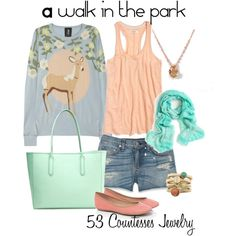 """""""A walk in the park"""" by countess-flower on Polyvore"""