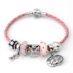 Pandora charm bracelet <3 pink angel cancer Des bracelets Pandora composés, des idées de sets, des couleurs, des suggestions de design, pour tous les goûts et toutes les humeurs. #pandora #bracelets #set #parures #bijoux #pandorabracelets