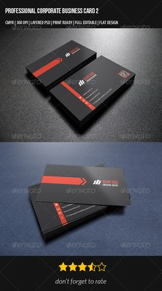 Corporate Business Card PSD Print Templates| Print Ready | Buy and Download: http://graphicriver.net/item/corporate-business-card-2/7347501?WT.ac=category_thumbWT.z_author=2AAref=ksioks