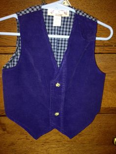 Hobbit Vest in recycled blue corduroy by MoondanceCottage on Etsy