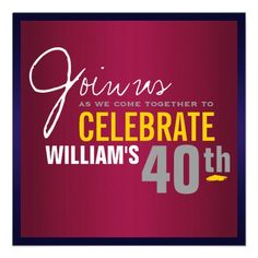 Mans 40th Birthday Invitation Invitations Gifts Presents