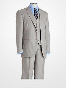 Steve Harvey Gray Multistripe Suit
