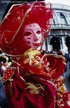 Carnevale Participant in Mask and Costume, Venice, Italy Photographic Print
