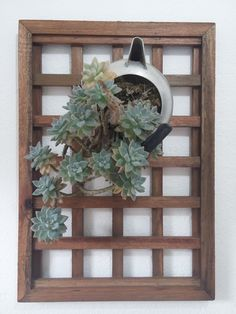Wall Plant Holder, Plant Wall, Plant Holders, Garden Trellis, Ladder Decor, Lanterns, Outdoor Structures, Modern, Diy