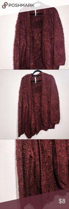 Simply Styled Petites Fuzzy Cardigan Size XL Rose Smoke