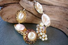 Oceans of pearls. Chunky multi pearl by OutsiderArtJewelry on Etsy