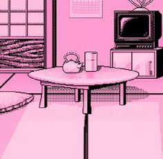 Find images and videos about love, pink and art on We Heart It - the app to get lost in what you love. Aesthetic Drawing, Red Aesthetic, Aesthetic Vintage, Aesthetic Pictures, 8 Bits, Vaporwave Art, Anime Pixel Art, Kawaii Anime, Art Inspo