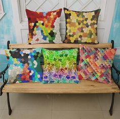 Linen cotton Color crystal lattice printing Cushion cover home-decor-decorative-pillow case Home textile capas para almofadas #Affiliate