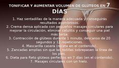 Tonifica y da volumen a tus glúteos en 7 días