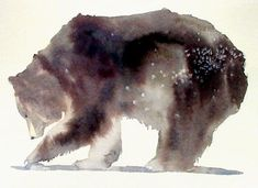 Grizzly Bear watercolor by September Vhay - Tragen Bear Spirit Animal, Spirit Bear, Bear Watercolor, Watercolor Animals, Watercolor Tattoo, Art And Illustration, Painting & Drawing, Watercolor Paintings, Painting Tattoo