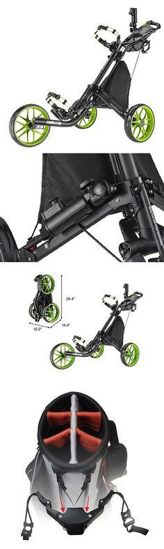Push-Pull Golf Carts 75207: Caddytek Ez-Fold 3 Wheel Golf Push Cart, Lime -> BUY IT NOW ONLY: $155.72 on eBay!