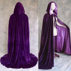Velvet cape pattern - good potential for all characters. I like the hood. Velvet will be a really good material, stylistically.