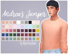 Andreas JumperI really wanted a tucked in jumper so I mixed three of EA's tops to get this lil' thing! This is made to work with the standard waisted EA jeans (so basically it works with most jeans)!...