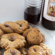 I love simple cookies like these Italian wine biscuits. Think of biscotti without the fuss of double baking, with so few ingredients you can hardly believe that they will yield such a tasty morsel. One bite and you'll be transported to Italy – or at least a lovely little restaurant in a Little Italy somewhere …