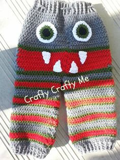 Tylers Crochet Monster Pants 12-18 months by CraftyCraftyMe123