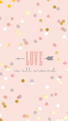 Blush pink Love arrow confetti spots dots iphone wallpaper phone background lock screen