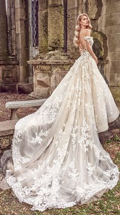 amalia carrara spring 2018 bridal off the shoulder sweetheart neckline heavily embellished bodice romantic princess a  line wedding dress open back royal train (1) bv -- Amalia Carrara Spring 2018 Wedding Dresses