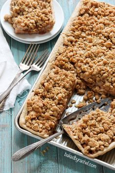 Apple Crumb Slab Pie Recipe from @bakedbyrachel