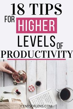 If you struggle with being productive, then you need these 18 tips to help you achieve higher levels of productivity! #productivity #productivitytips #productivityhacks #productivehabits #lifehacks #getstuffdone