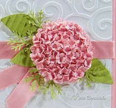 3 in 1 hydrangea   ... size circle punches graduating from 1 3 8 to 3 4 in size i layered the