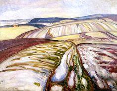 Snow Landscape, Thüringen Edvard Munch - 1906