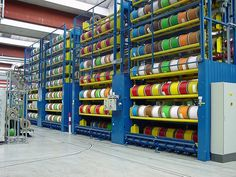 industrial wire spool rack | Vertical carousels / Cable reels - Circulating rack for cable reels
