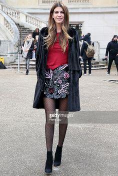 Bianca Brandolini d'Adda arrives at the Giambattista Valli show as part of the Paris Fashion Week Womenswear Fall/Winter 2016/2017 on March 7, 2016 in Paris, France.