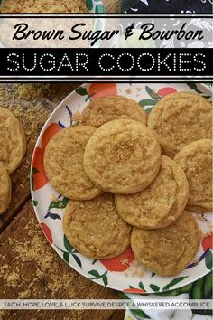 Brown Sugar & Bourbon Sugar Cookies - When it comes to sugar cookies, you don't always have to use granulated sugar. Brown sugar gives these bourbon-infused cookies an absolutely lovely texture, not to mention an incredible taste. And, it certainly doesn't hurt that these sweet cookies have an amazing bourbon flavor. I mean, seriously, booze and cookies, how can you go wrong? Sugar Cookie Bars, Sugar Cookies Recipe, Cookie Dough, Good Food, Yummy Food, Rich Recipe, Sweet Cookies, Sweet Bread, Brunch Recipes