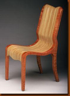 Dining chair by Kerry Vesper, in cherry & Baltic birch