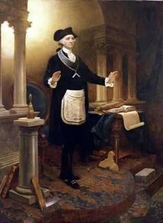 Painted by lauded German American artist Emanuel Leutze George Washington as a Master Mason portrays America's first president as if he is presiding over a lodge meeting. The Scottish Rite Valley of Detroit purchased the painting in 1927 for. Masonic Order, Masonic Art, Masonic Lodge, Masonic Symbols, George Washington, Illuminati, Famous Freemasons, Templer, Eastern Star