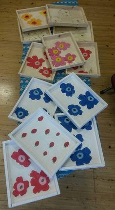 2.luokan tarjottimet. Tanja Varala, Teknisen työn ideapankki alakouluun. Hobbies And Crafts, Crafts For Kids, Arts And Crafts, Art School, Elementary Schools, Cool Kids, Woodworking, Gift Wrapping, Textiles