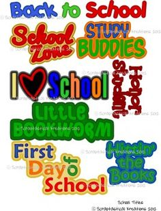 School Titles-School Titles, back 2 school, First Day of School, Hittin the Books, svg, gsd, dxf, wpc, ai, pdf, png, jpg, wishblade, blackcat cougar, pazzles, cricut, silhouette, robocraft, fairycut, make the cut, scal, scal2, sure cuts a lot, svg files, svg cutting files, scrapbooking, paper piecing, paper piecing patterns, paper piecing files, digital scrapbooking, tear bears, freebie, svg freebie, Cricut, Silouette, Cameo, Eclips, Sizzix Eclips, Black Cat Cougar, Make the Cut, Sure Cuts a Lot