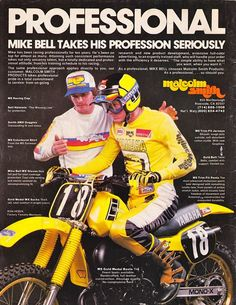 Mike Bell in a Malcolm Smith Ad.